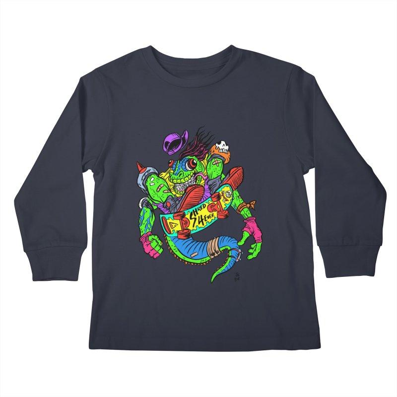 M Gecko Kids Longsleeve T-Shirt by JB Roe Artist Shop
