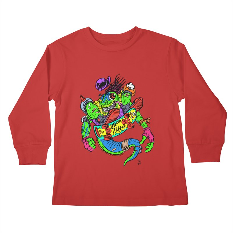 M Gecko Kids Longsleeve T-Shirt by JB Roe Artist Shop