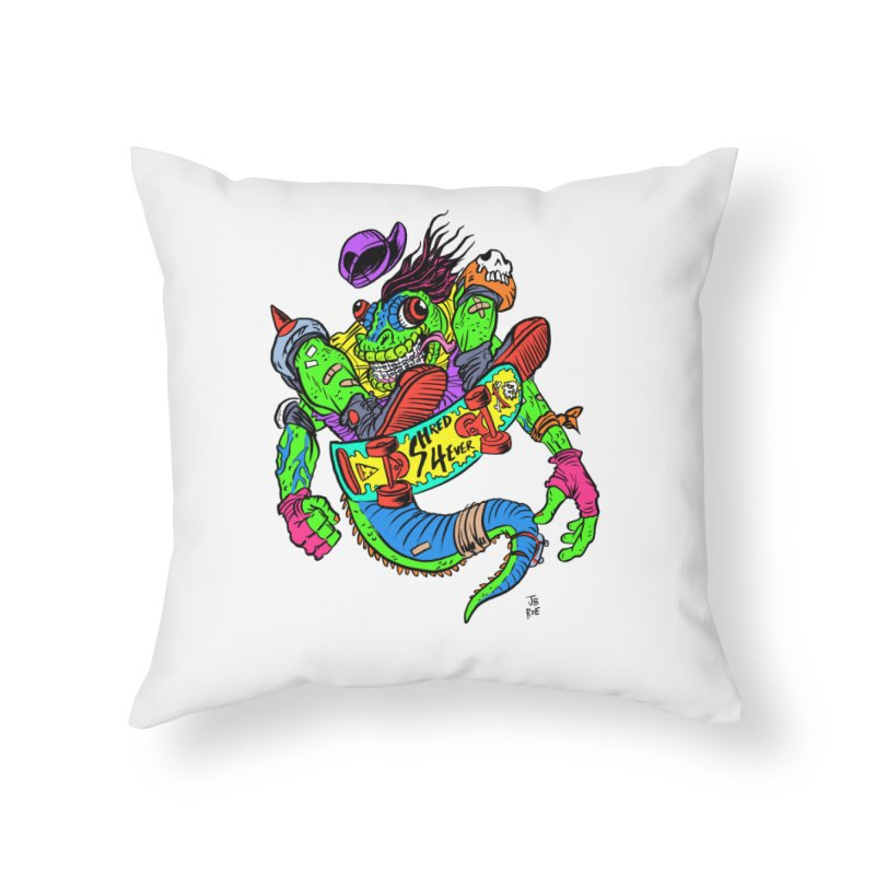 M Gecko Home Throw Pillow by JB Roe Artist Shop