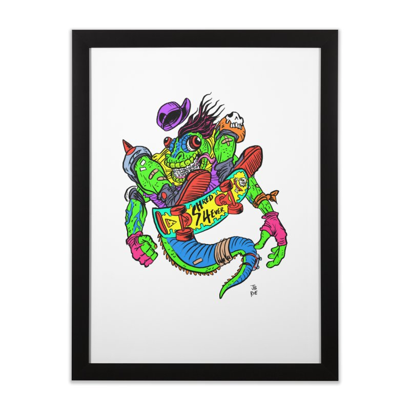M Gecko Home Framed Fine Art Print by JB Roe Artist Shop