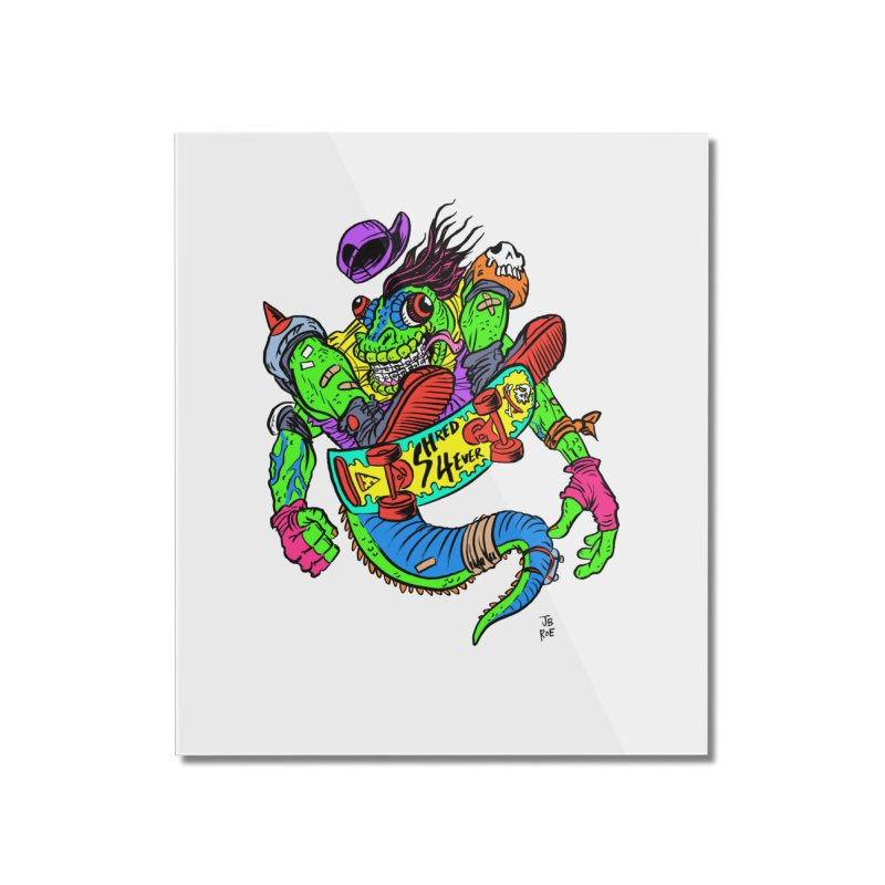 M Gecko Home Mounted Acrylic Print by JB Roe Artist Shop