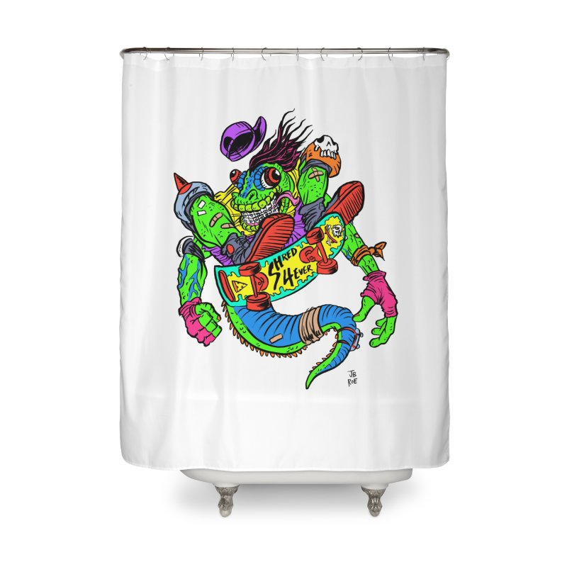 M Gecko Home Shower Curtain by JB Roe Artist Shop