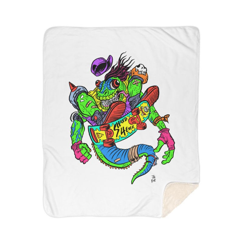 M Gecko Home Sherpa Blanket Blanket by JB Roe Artist Shop