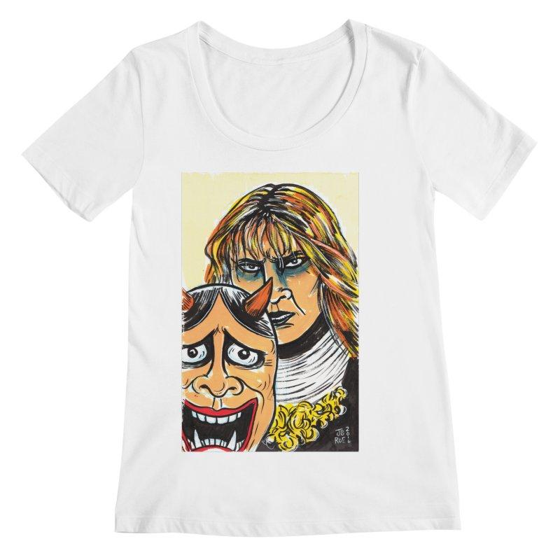 The Dangerous Queen Women's Regular Scoop Neck by JB Roe Artist Shop