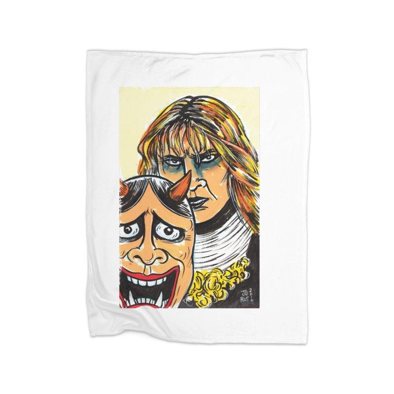 The Dangerous Queen Home Fleece Blanket Blanket by JB Roe Artist Shop