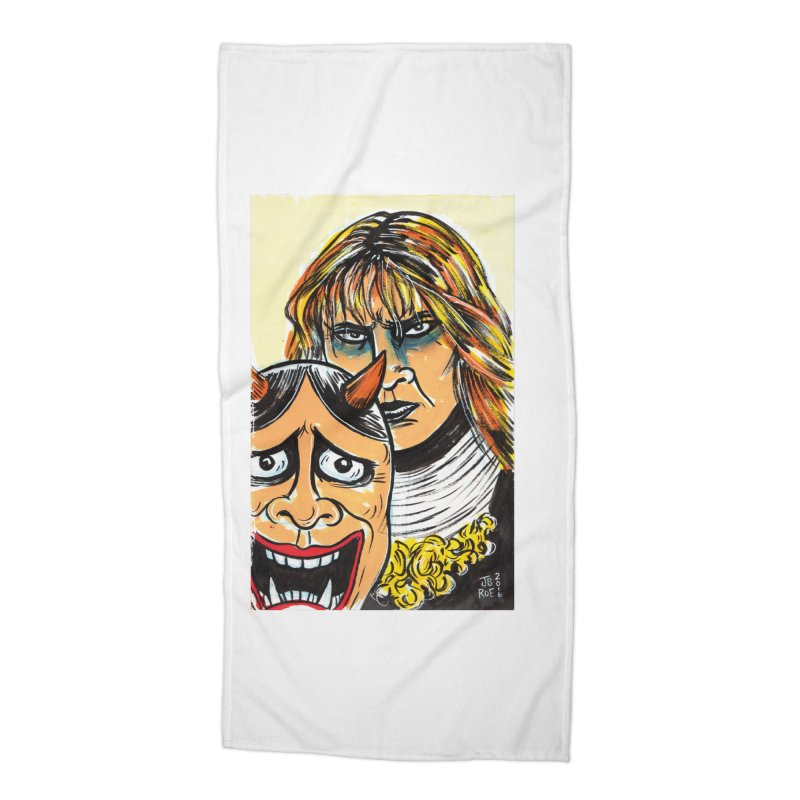 The Dangerous Queen Accessories Beach Towel by JB Roe Artist Shop