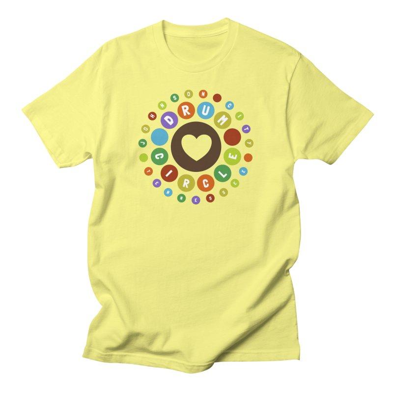 Heart Circle (colorful) Men's T-Shirt by Johnson City Drum Circle Stuff