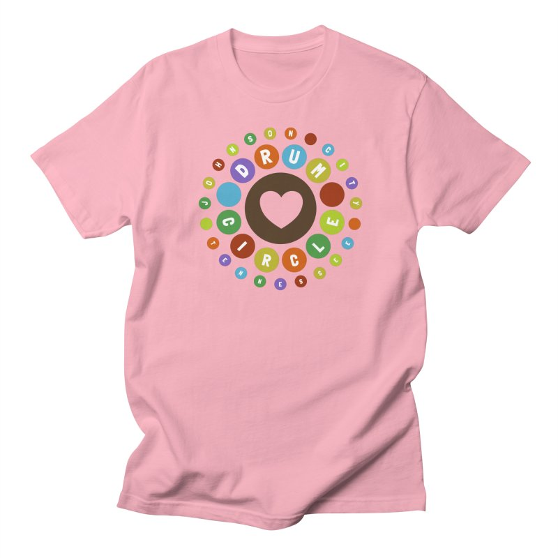 Heart Circle (colorful) Men's T-Shirt by Johnson City Drum Circle Stuff