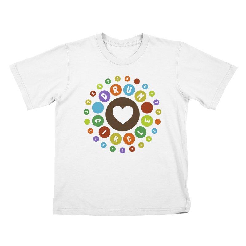 Heart Circle (colorful) Kids T-Shirt by Johnson City Drum Circle Stuff