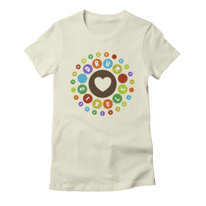 Heart Circle (colorful) Women's T-Shirt by Johnson City Drum Circle Stuff