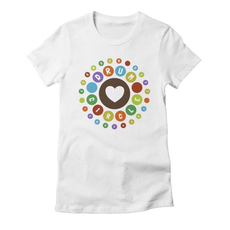 Heart Circle (colorful) Women's T-Shirt by Johnson City Drum Circle Stuff