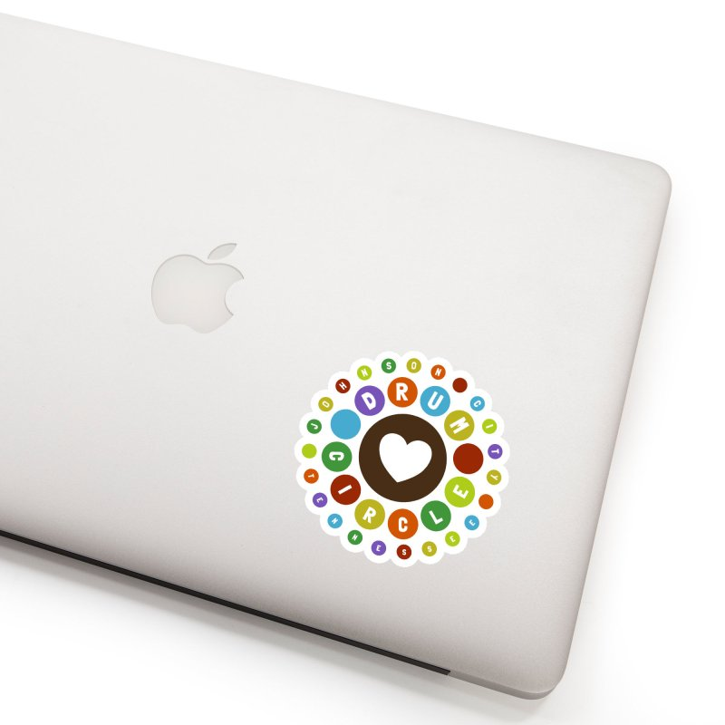 Heart Circle (colorful) Accessories Sticker by Johnson City Drum Circle Stuff