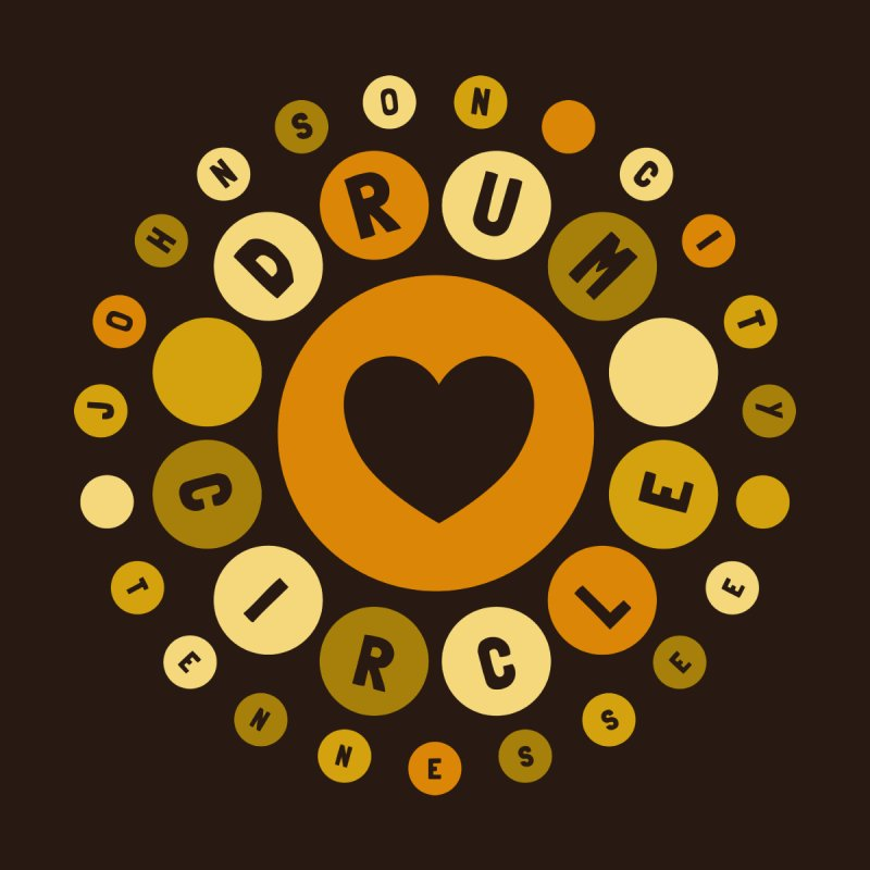 Heart Circle (earthy) Men's T-Shirt by Johnson City Drum Circle Stuff