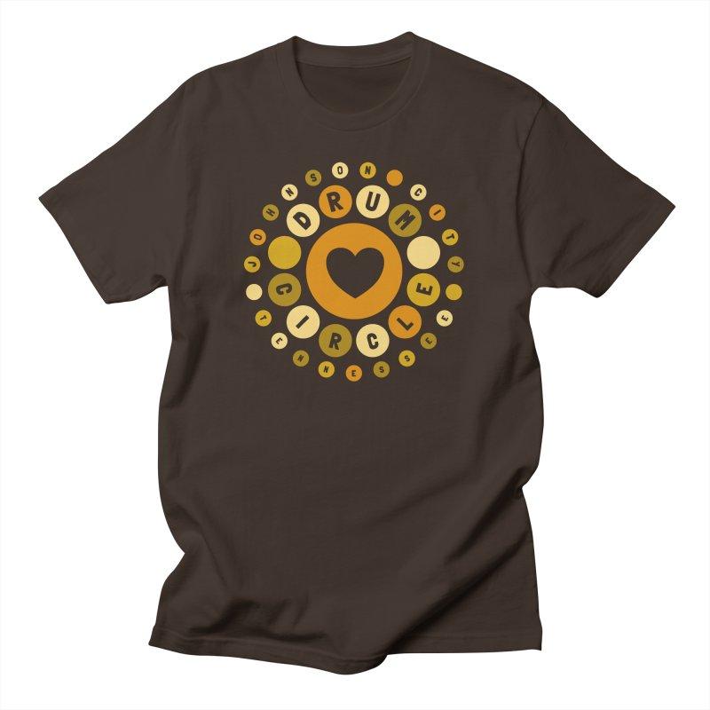 Heart Circle (earthy) Men's T-Shirt by Johnson City Drum Circle Stuff