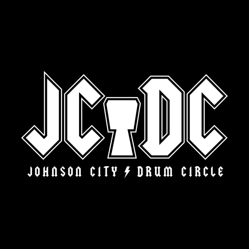 JC/DC Men's T-Shirt by Johnson City Drum Circle Stuff