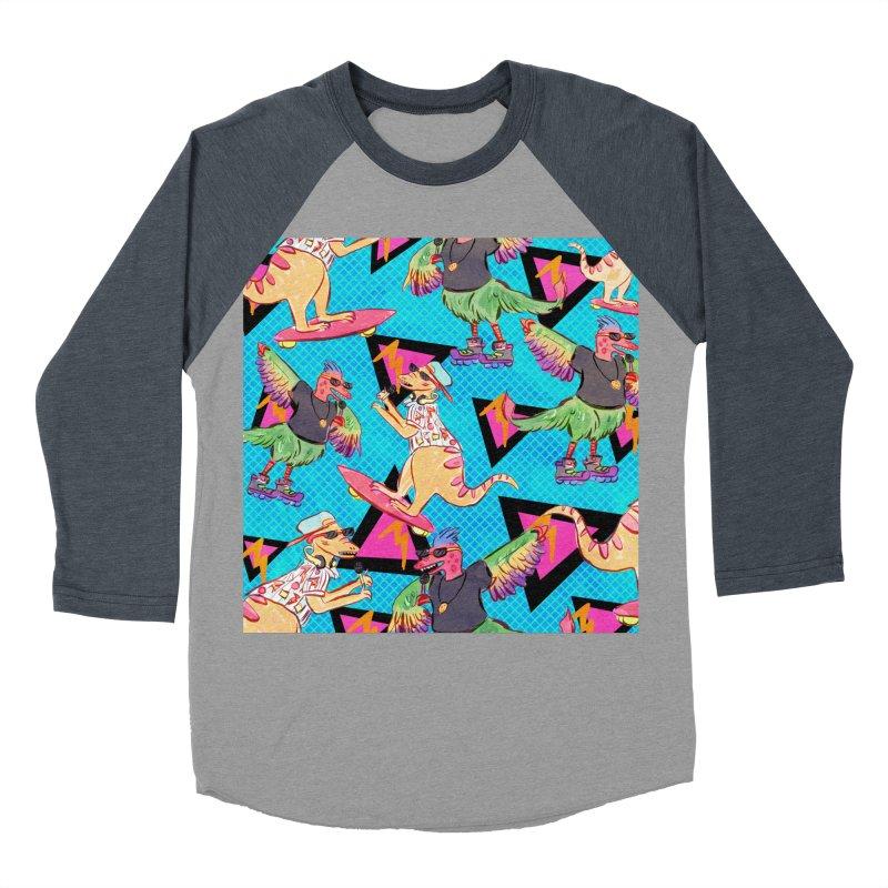Dinobros Women's Baseball Triblend Longsleeve T-Shirt by Jen Chan's Shop