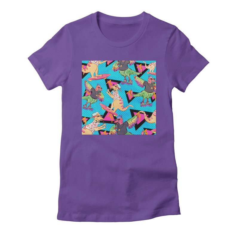 Dinobros Women's Fitted T-Shirt by Jen Chan's Shop