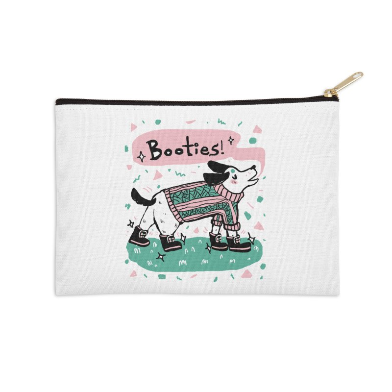 B-B-B-Booties Pup Accessories Zip Pouch by Jen Chan's Shop