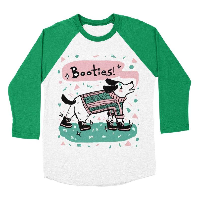 B-B-B-Booties Pup Men's Baseball Triblend Longsleeve T-Shirt by Jen Chan's Shop