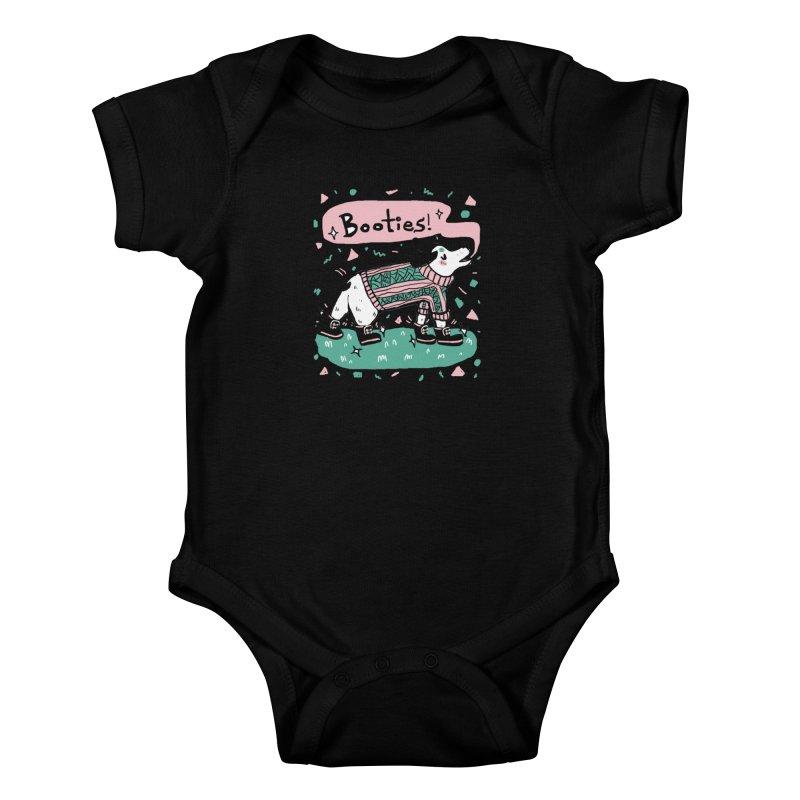 B-B-B-Booties Pup Kids Baby Bodysuit by Jen Chan's Shop