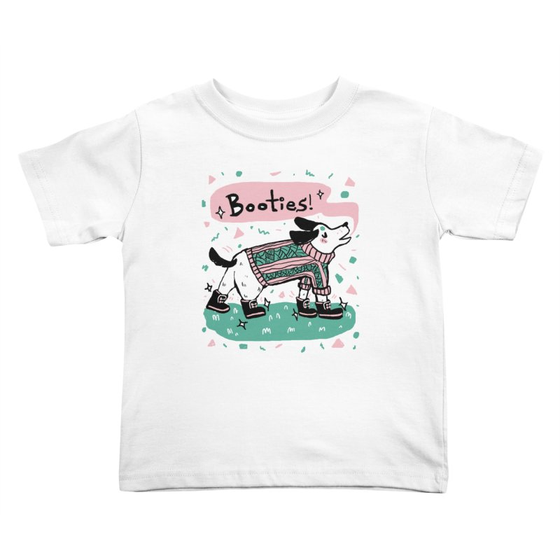 B-B-B-Booties Pup Kids Toddler T-Shirt by Jen Chan's Shop