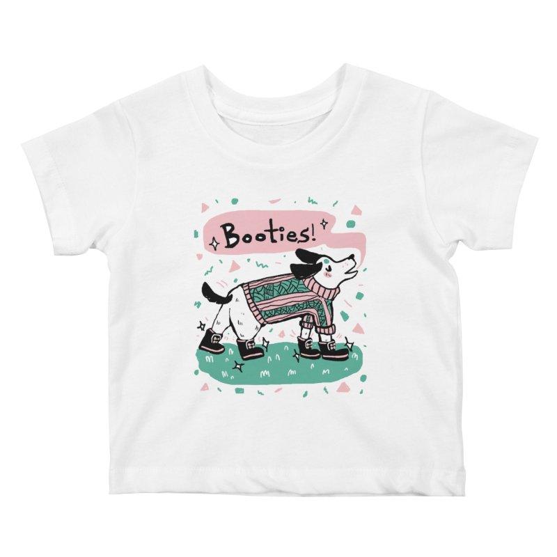 B-B-B-Booties Pup Kids Baby T-Shirt by Jen Chan's Shop