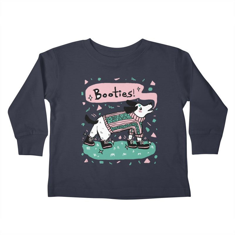 B-B-B-Booties Pup Kids Toddler Longsleeve T-Shirt by Jen Chan's Shop