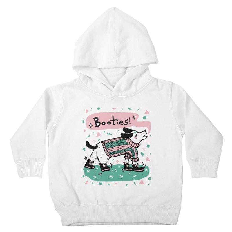 B-B-B-Booties Pup Kids Toddler Pullover Hoody by Jen Chan's Shop
