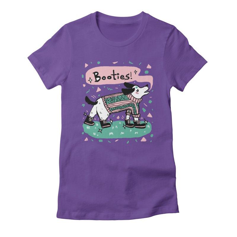 B-B-B-Booties Pup Women's Fitted T-Shirt by Jen Chan's Shop