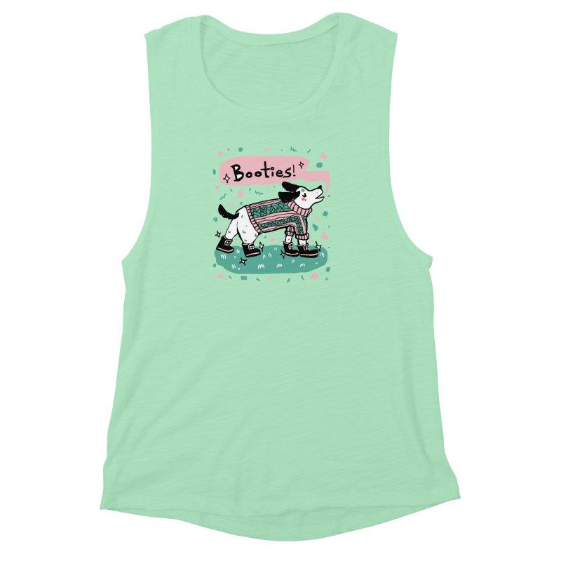 B-B-B-Booties Pup Women's Muscle Tank by Jen Chan's Shop
