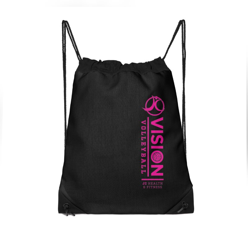 Vision Volleyball Accessories Drawstring Bag Bag by JC Heath and Fitness