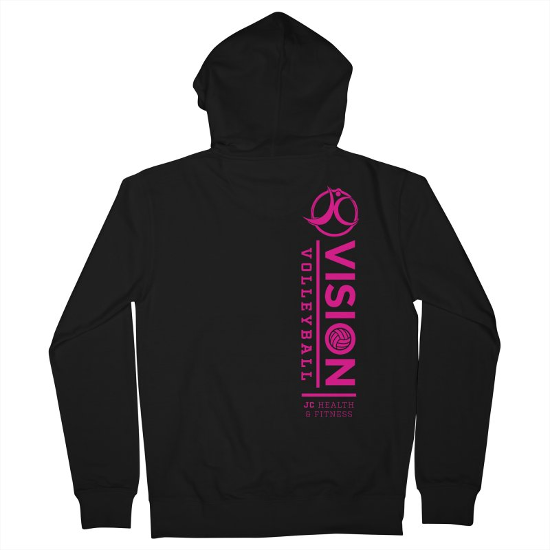 Vision Volleyball Women's French Terry Zip-Up Hoody by jchealthfit's Artist Shop