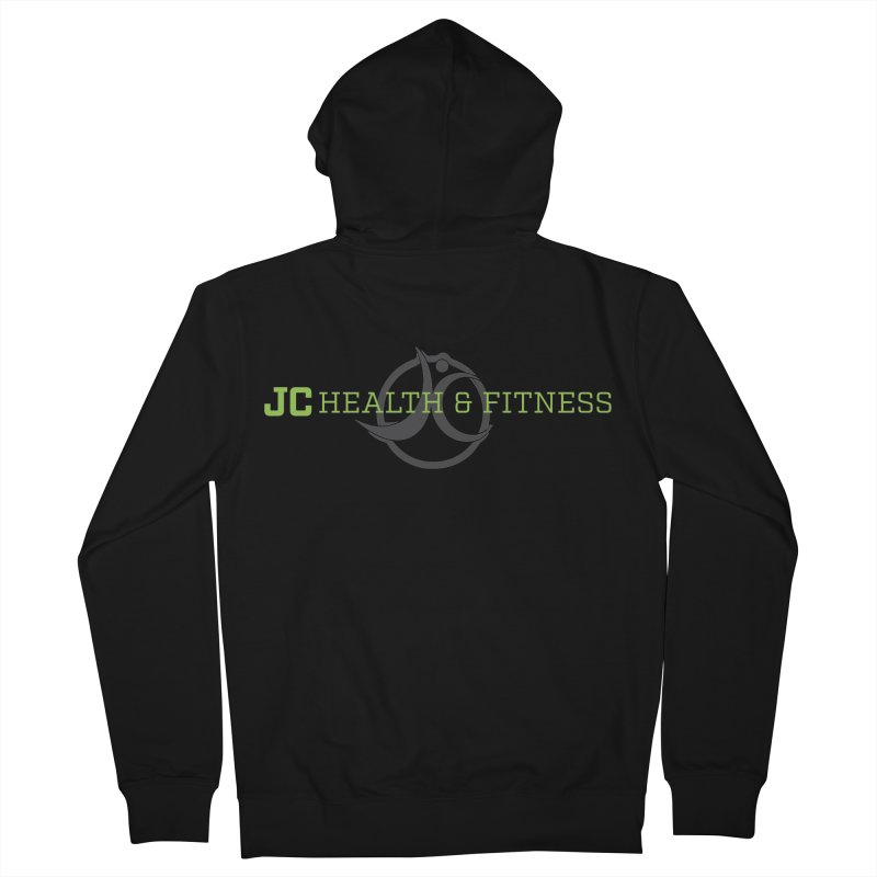 JC logo Women's French Terry Zip-Up Hoody by jchealthfit's Artist Shop