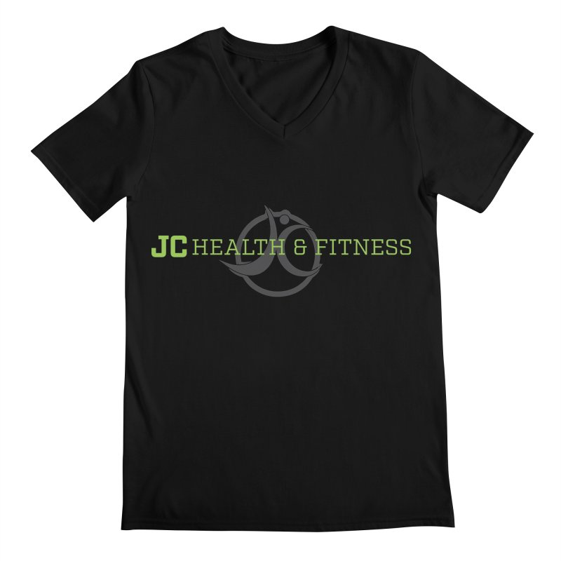 JC logo Men's V-Neck by JC Heath and Fitness