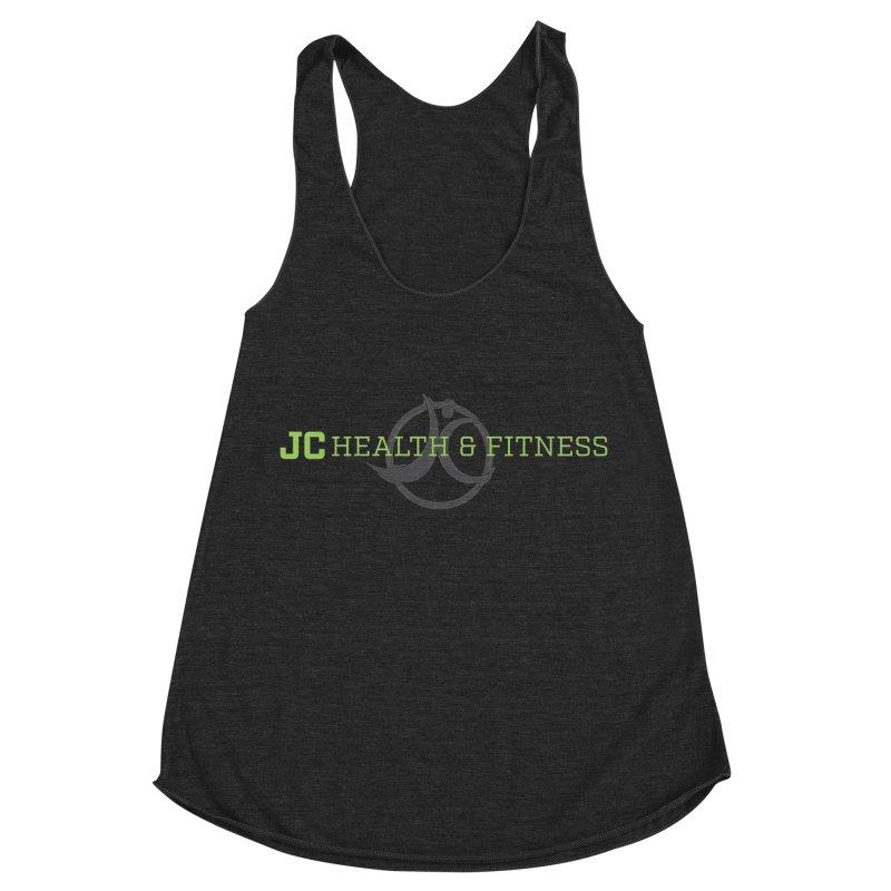 JC logo Women's Racerback Triblend Tank by JC Heath and Fitness