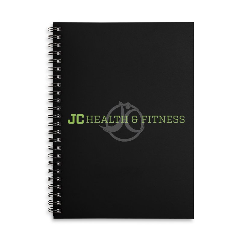 JC logo Accessories Lined Spiral Notebook by JC Heath and Fitness