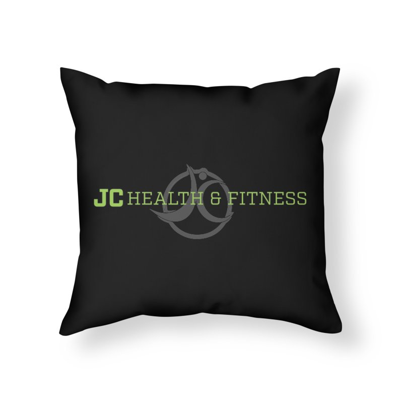 JC logo Home Throw Pillow by jchealthfit's Artist Shop