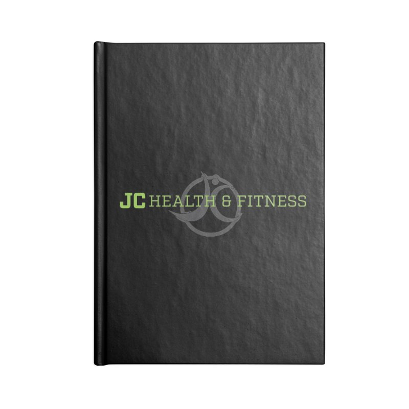 JC logo Accessories Lined Journal Notebook by JC Heath and Fitness