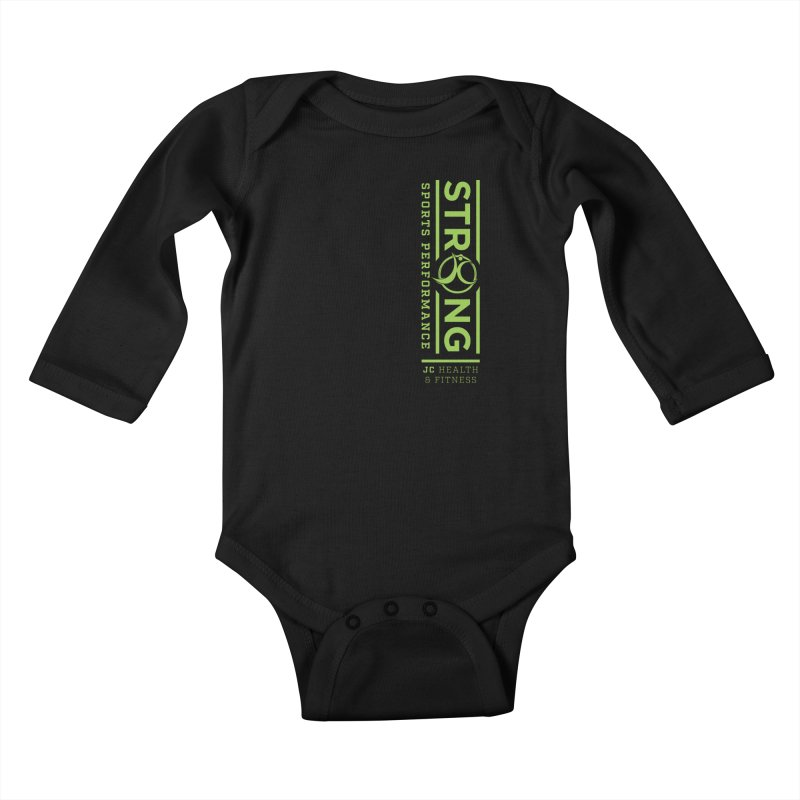 JC Strong Kids Baby Longsleeve Bodysuit by jchealthfit's Artist Shop