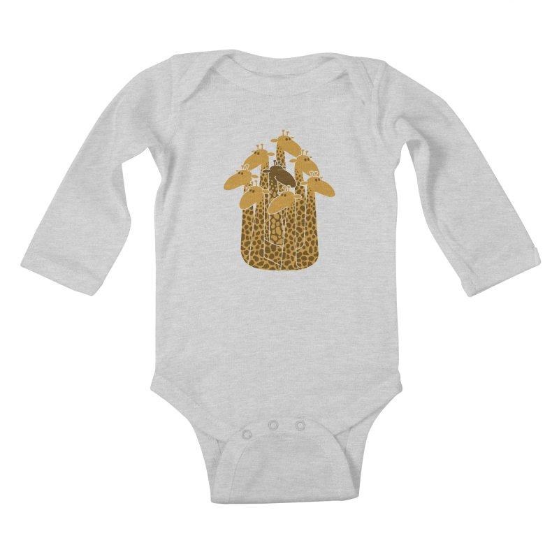 The black giraffe of the family. Kids Baby Longsleeve Bodysuit by JCMaziu shop