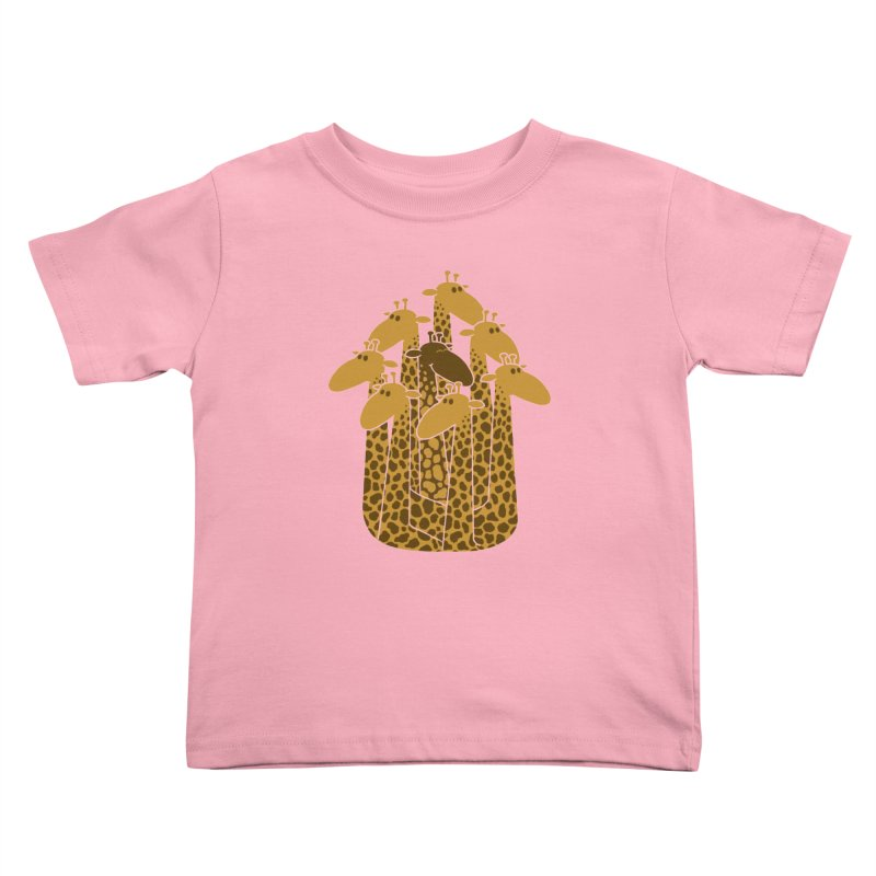 The black giraffe of the family. Kids Toddler T-Shirt by JCMaziu shop