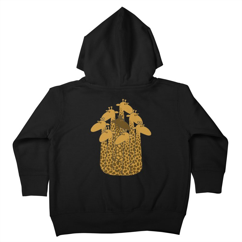 The black giraffe of the family. Kids Toddler Zip-Up Hoody by JCMaziu shop