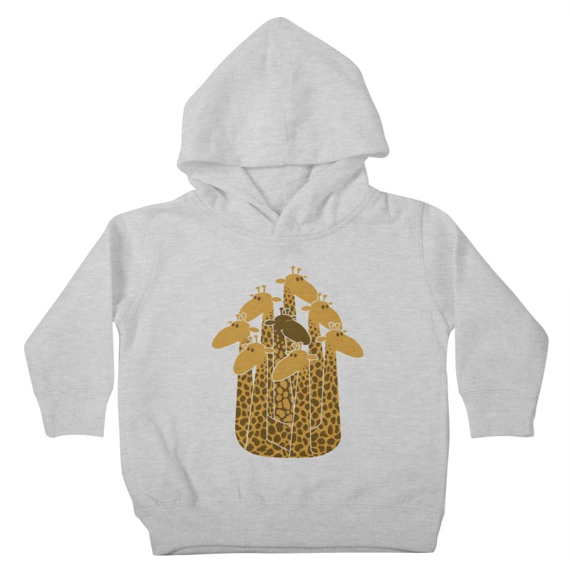 The black giraffe of the family. Kids Toddler Pullover Hoody by JCMaziu shop