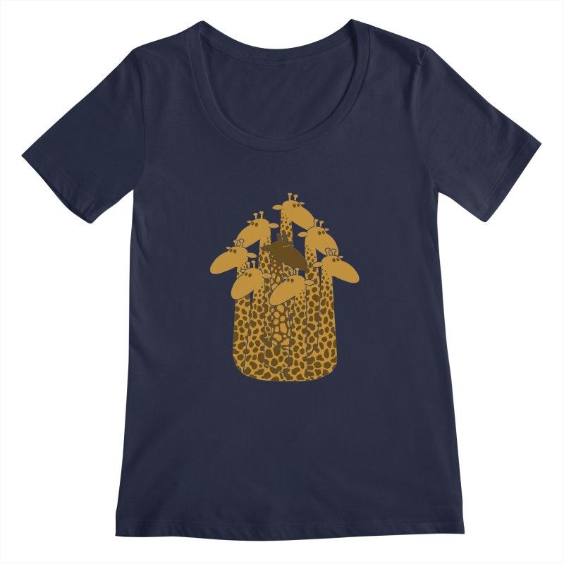 The black giraffe of the family. Women's Scoopneck by JCMaziu shop