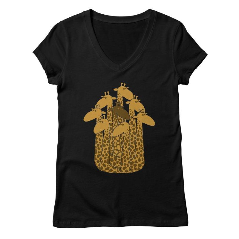 The black giraffe of the family. Women's V-Neck by JCMaziu shop
