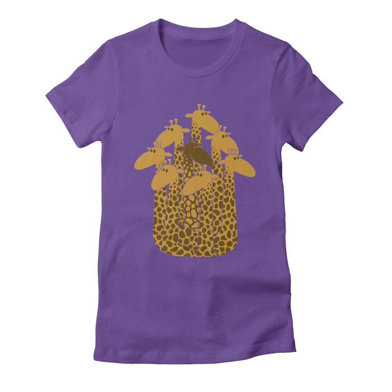 The black giraffe of the family. Women's Fitted T-Shirt by JCMaziu shop