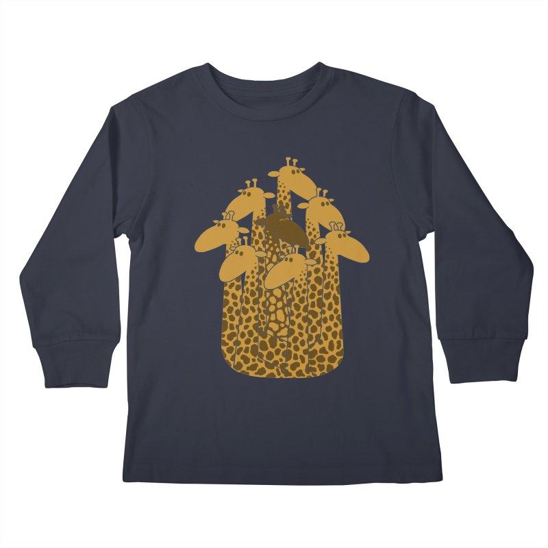 The black giraffe of the family. Kids Longsleeve T-Shirt by JCMaziu shop