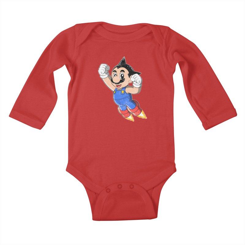 Astroplumber Kids Baby Longsleeve Bodysuit by JCMaziu shop