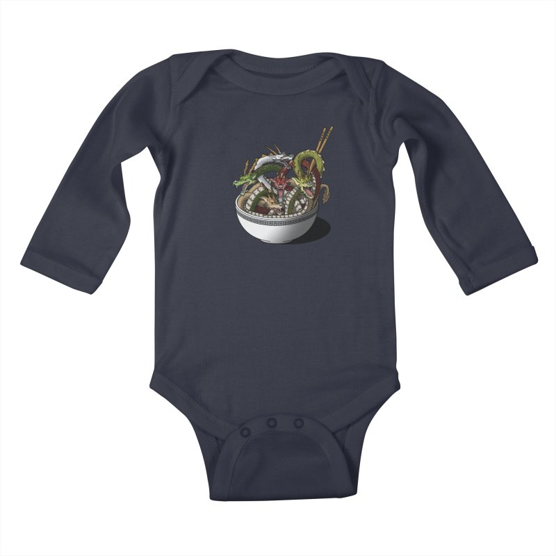 Dragon noodles. Kids Baby Longsleeve Bodysuit by JCMaziu shop