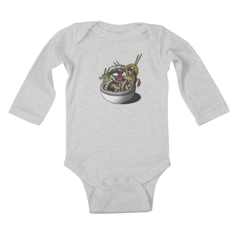 Dragon noodles. Kids Baby Longsleeve Bodysuit by JCMaziu shop